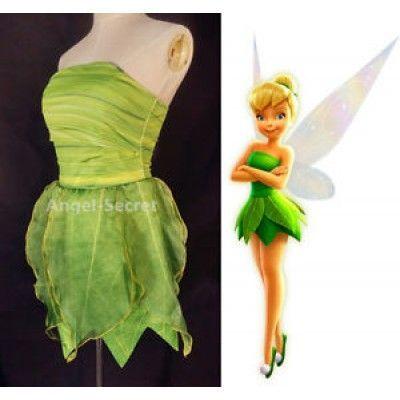 p356 tinkerbell costume women cosplay leafy print dress. Black Bedroom Furniture Sets. Home Design Ideas