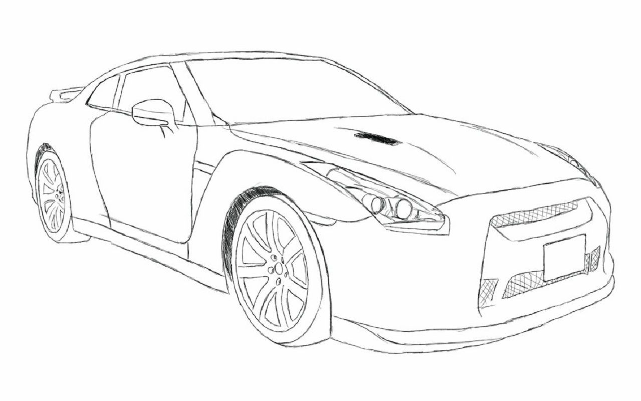 Fast And Furious Coloring Pages Nissan Gtr R35 Educative