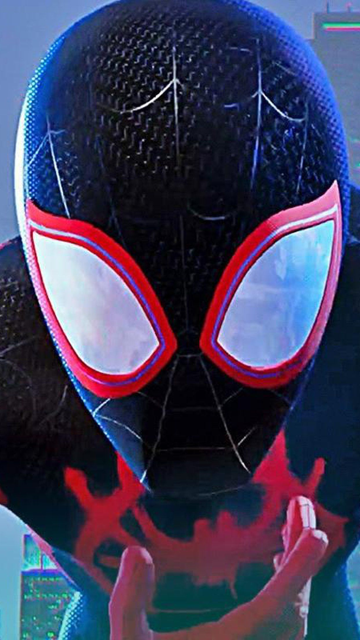 Download Spider Man Into The Spider Verse Close Up For Iphone 8 Plus Iphone 6s Plus Wallpaper Movies Wallpaper For Phone Desktop Backgrounds Collections Spiderman Spider Verse Movie Wallpapers