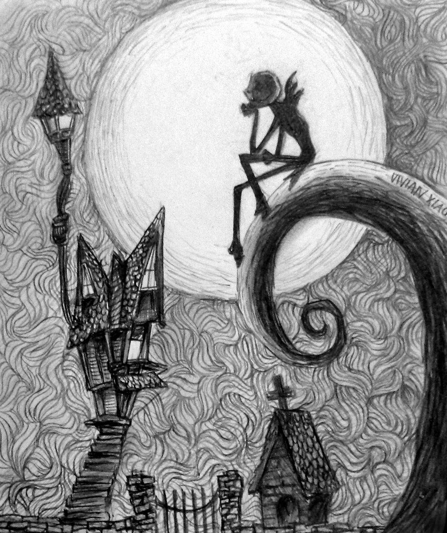 Tim Burton Nightmare Before Christmas Artwork.Nightmare Before Christmas By Vivsters Deviantart Com On