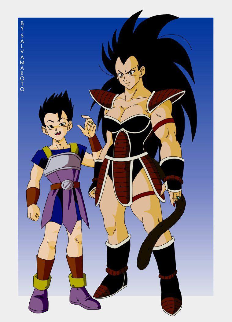 Commission 39 Kyabe And Female Raditz By Salvamakoto Anime Dragon Ball Super Dragon Ball Super Art Dragon Ball Artwork