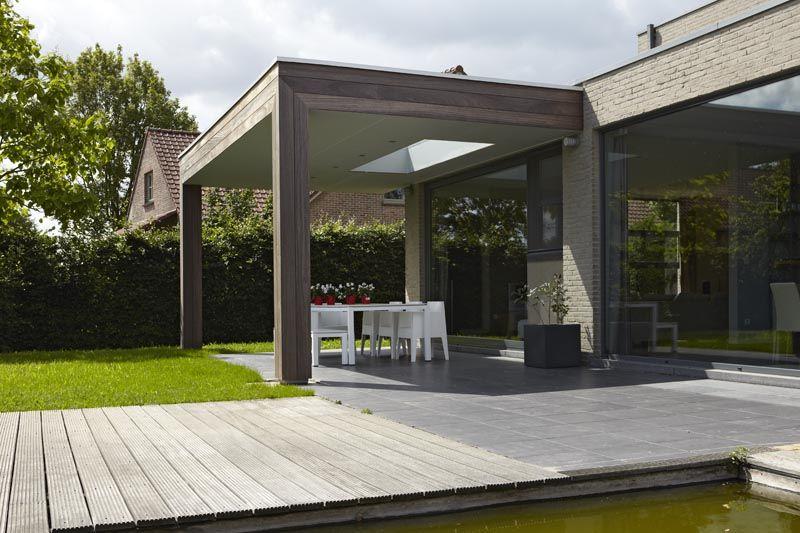 Bogarden voorbeeld overkapping terras met lichtkoepel backyard