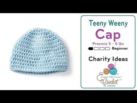8ddc5f1ef26 How to Crochet A Preemie Hat  5 - 6 lbs - YouTube...same instructions as  for That s My Beanie