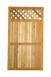 5 4 H X 3 W Cedar Lattice Top Gate Diamond To Match The Cedar Lattice Top Fence Panel Can Be Used As A Fence With Lattice Top Lattice Top Wood Fence