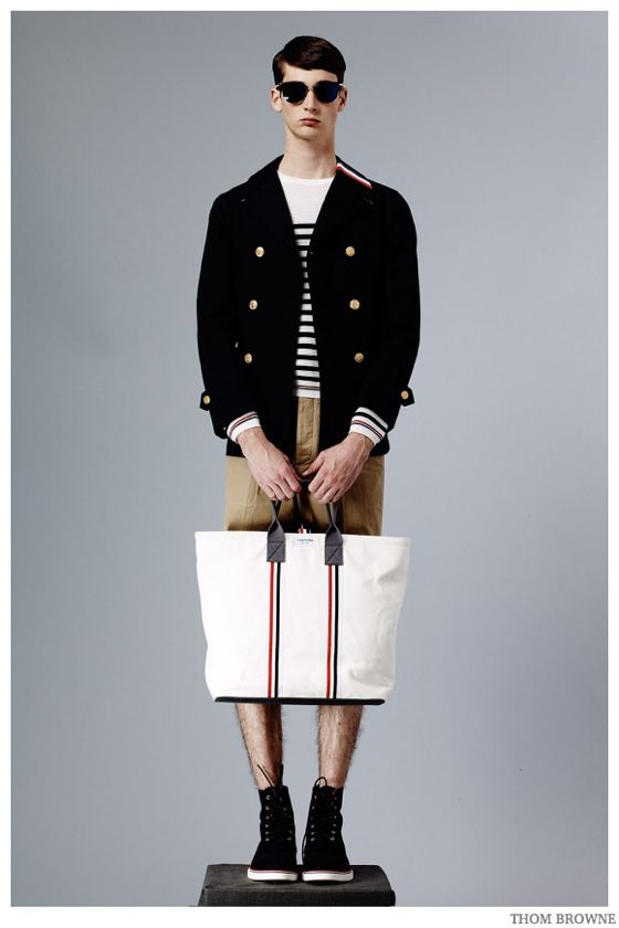 25da9716831 Thom Browne Embraces Beach Ready Fashions + Nautical Styles for Spring 2015  Collection