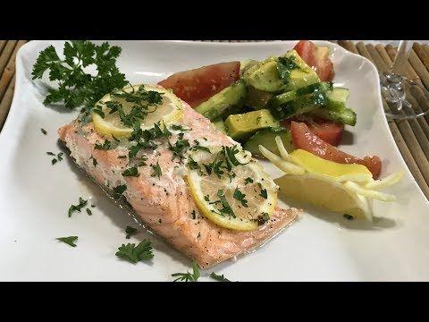 Salmon Con Mantequilla Y Ajo