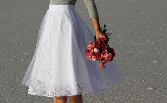 ec48b38c2d White organza skirt with tulle overlay by NelliUzun on Etsy | simply ...