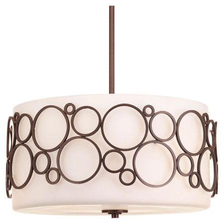 Add a sophisticated touch to your foyer or master suite with this 3-light pendant, showcasing an etched glass bowl shade and Venetian bronze finish....