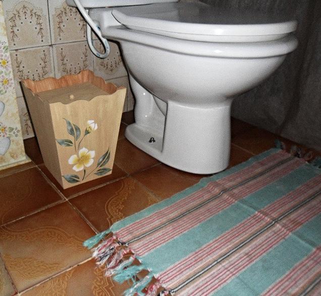 Lixeira decorada para banheiro!