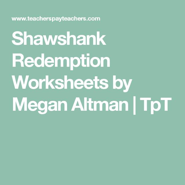 Shawshank Redemption Worksheets | Shawshank Redemption ...
