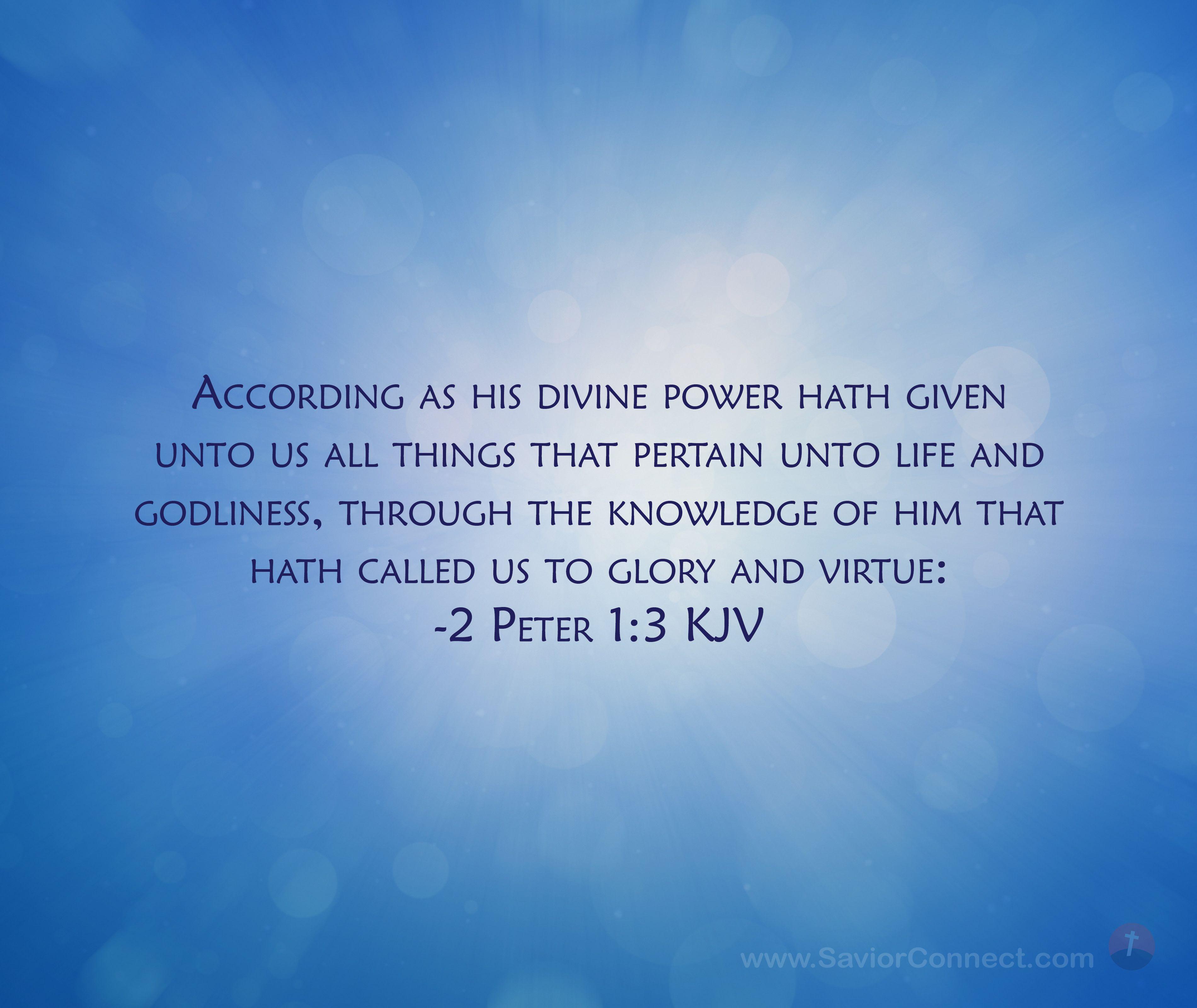 2 Peter 13 King James Version in 2020 Kjv, Scripture