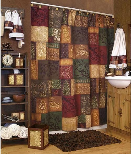 Country Pine Patchwork Shower Curtain Already Have This Hanging