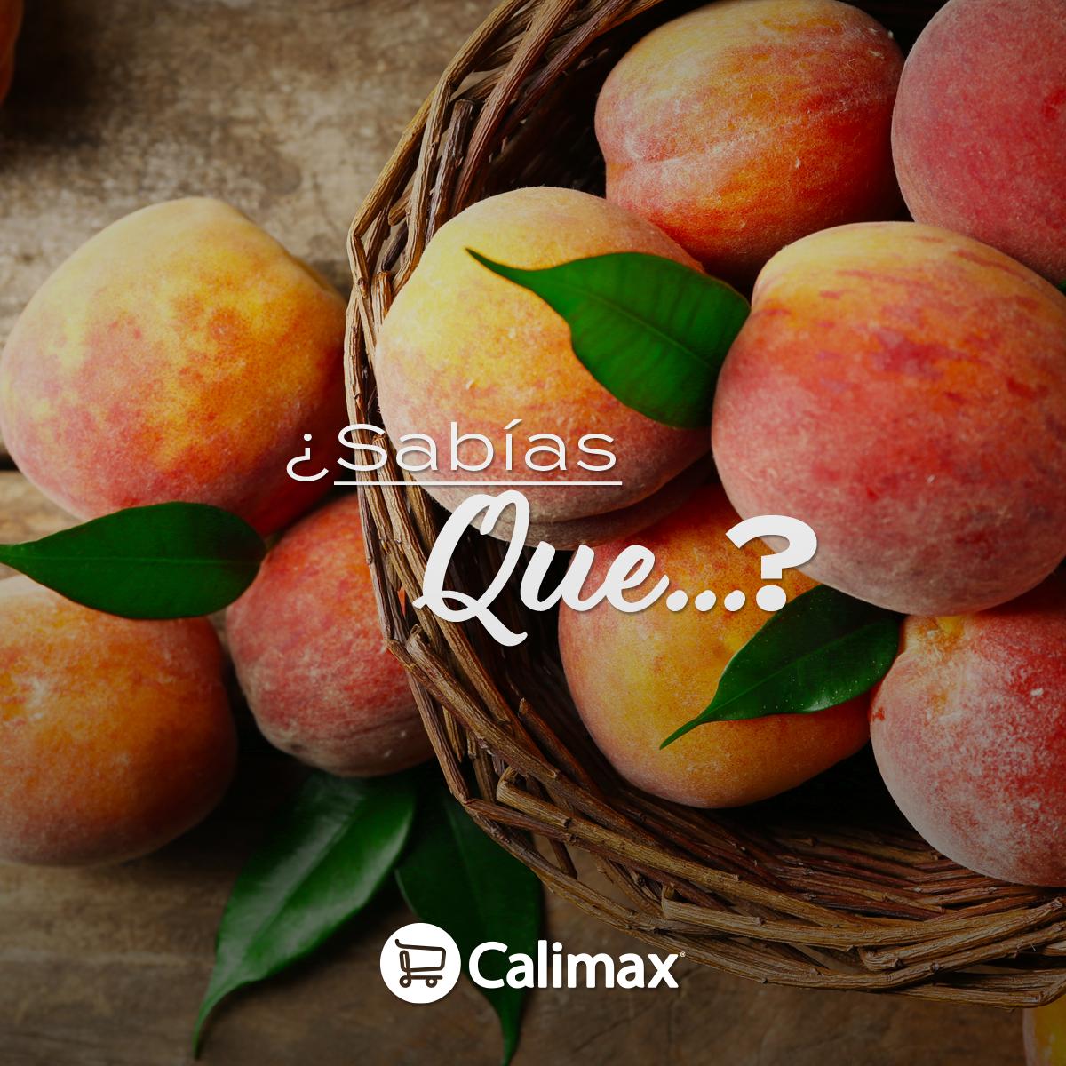 #SabíasQue El consumo de durazno previene enfermedades renales y cardiovasculares ¡En Calimax están los más frescos!
