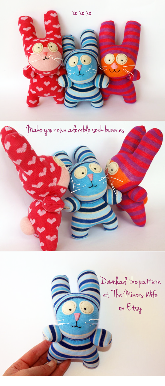 Make This: Sock Bunnies for Easter