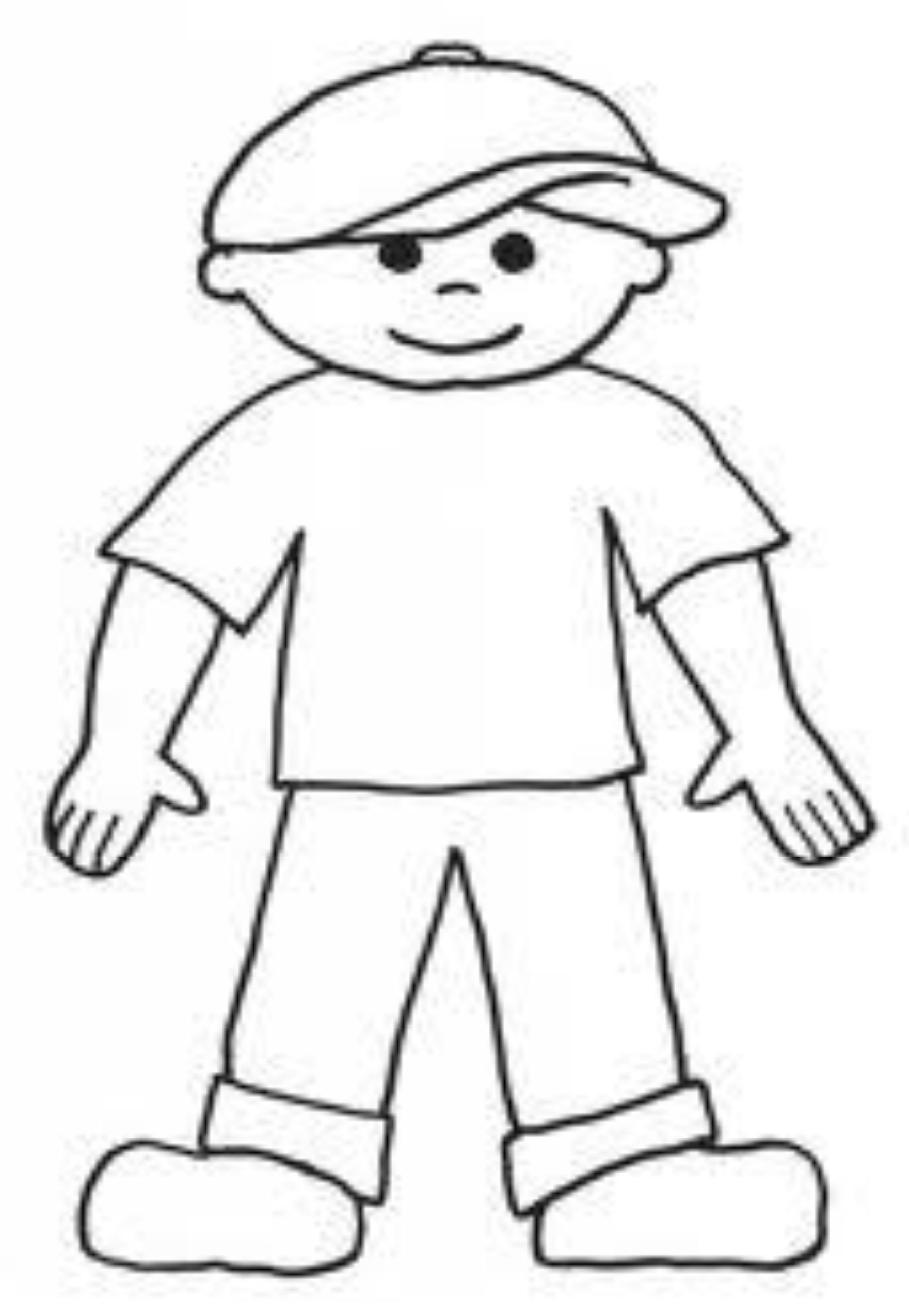 flat stanley coloring page # 6