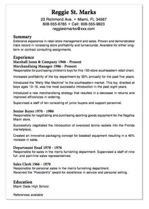 Example Of Senior Buyer Resume Httpexampleresumecvexample