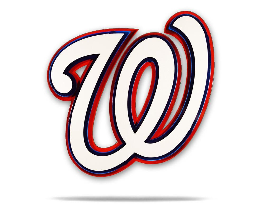 Washington Nationals 3 Layer W 3d Metal Artwork Washington Nationals Metal Artwork Washington Nationals Logo