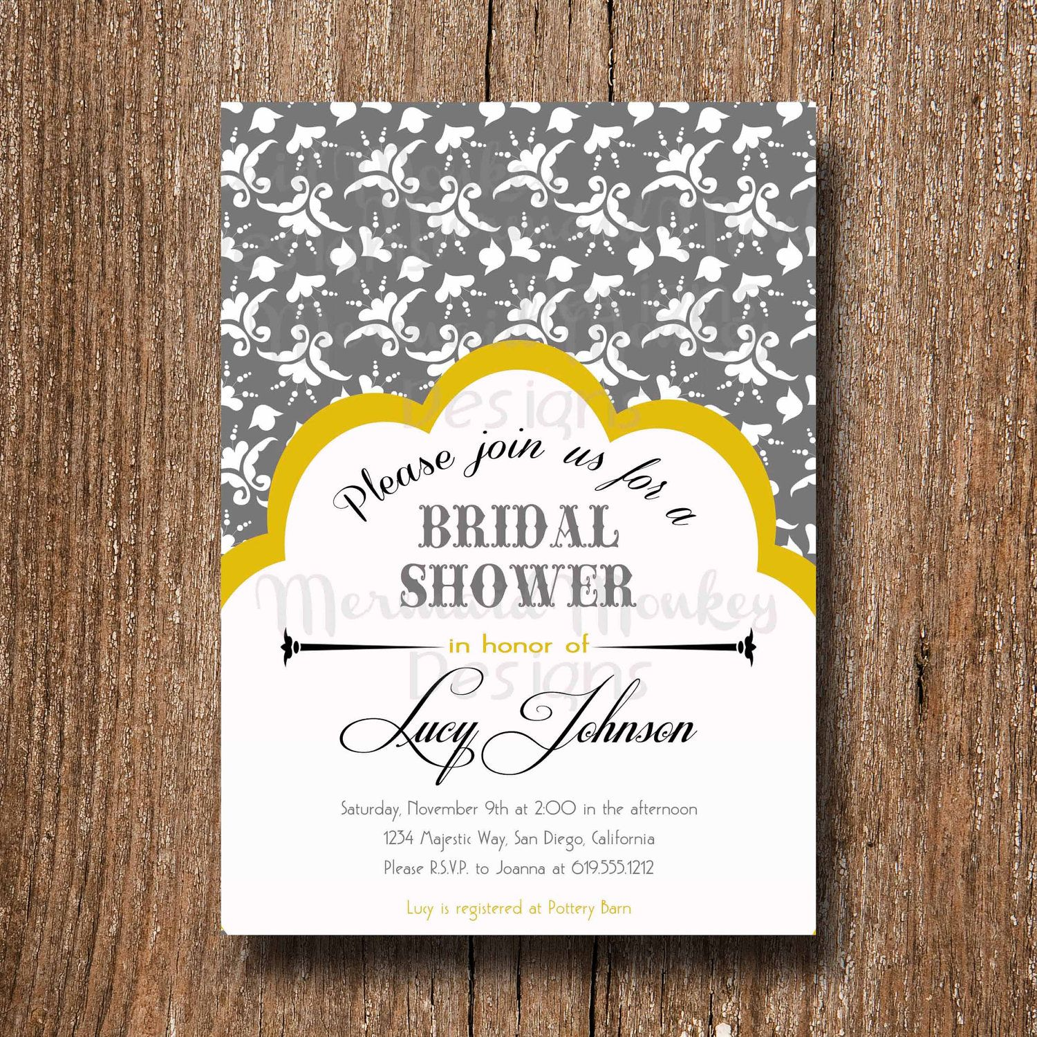 wedding shower invite...could make it a pocket and put RSVP card or ...