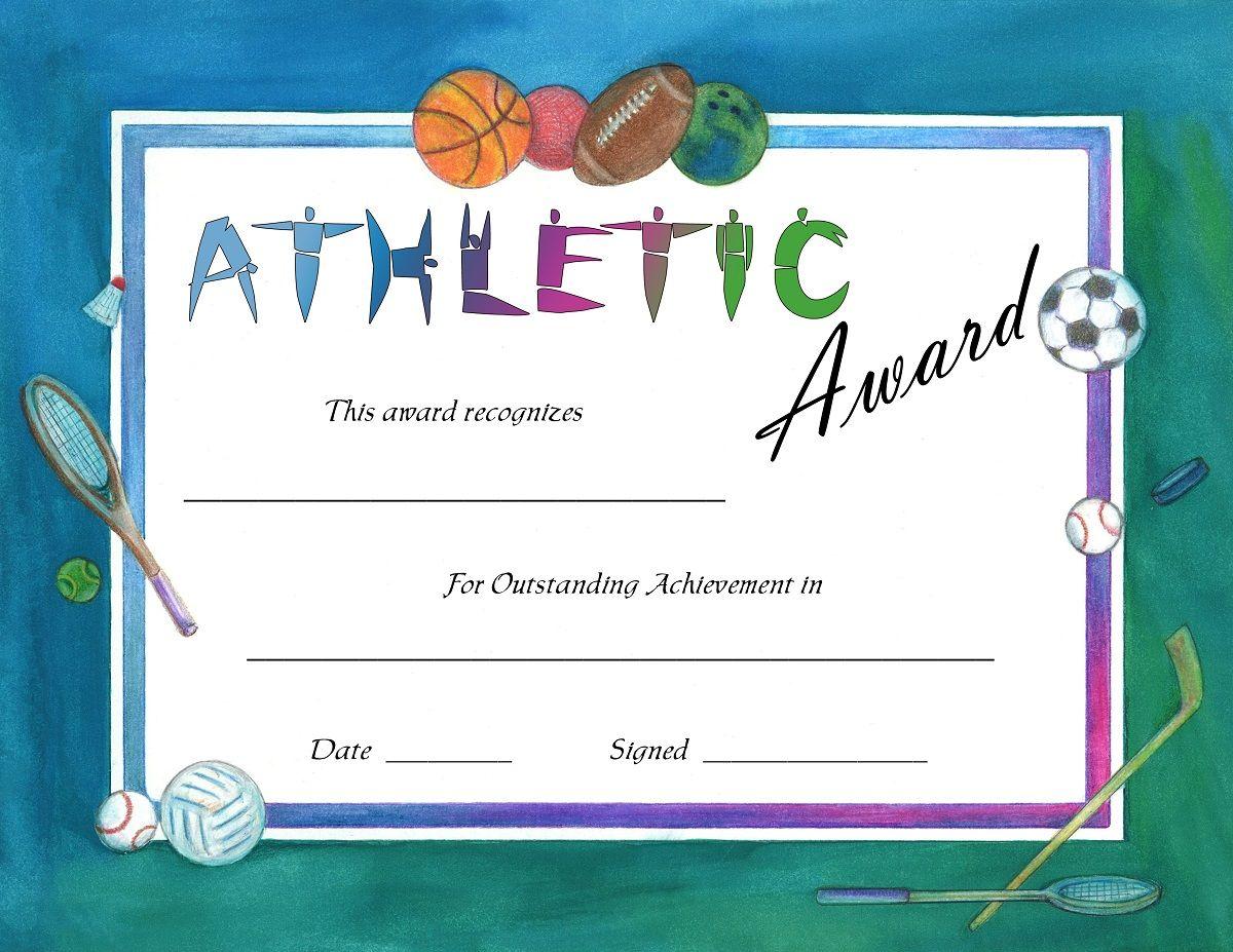44 best ideas about Blank Certificate Templates – Sports Award Certificates