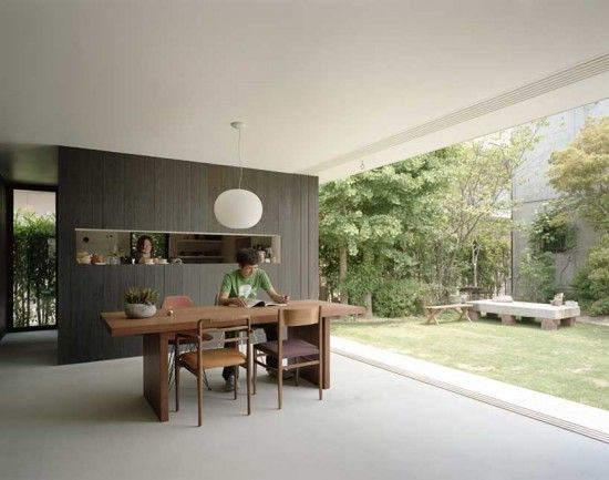 Modern minimalist japanese house design niwanosumika for Minimalist japanese homes