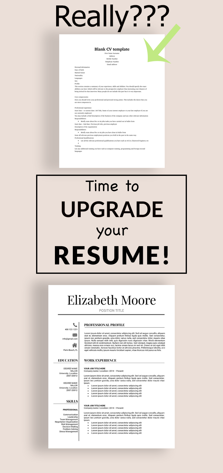 Making A Resume On Word Resume Template  Modern Resume Template  Professional Resume .