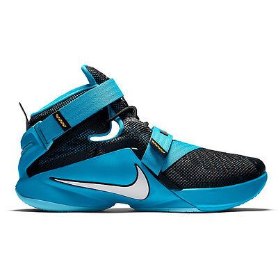 best service 52dac 94ef2 Nike Lebron Soldier 9 IX Mens 749417-014 Blue Lagoon Basketball Shoes Size  10