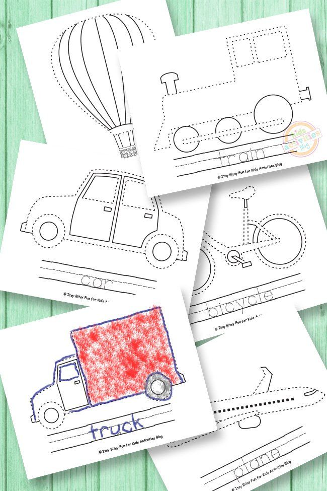 vehicle tracing coloring pages preschool learning transportation activities transportation. Black Bedroom Furniture Sets. Home Design Ideas