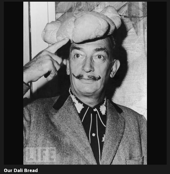 Dali wears a hat shaped like a loaf of bread on his head on Nov. 5 ... 4af15c52f