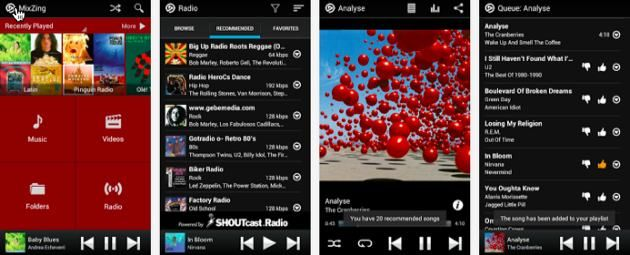 A list of android music manager app for the best music