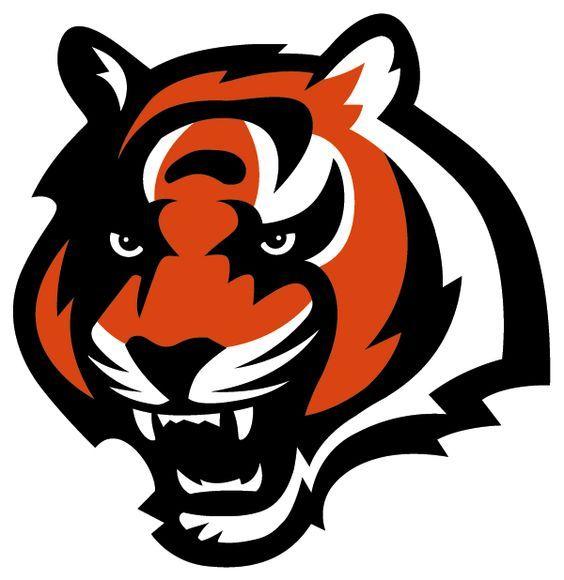 cincinnati bengals football team logo graphic bengal tiger head rh pinterest com tiger head logo vector tiger head mascots