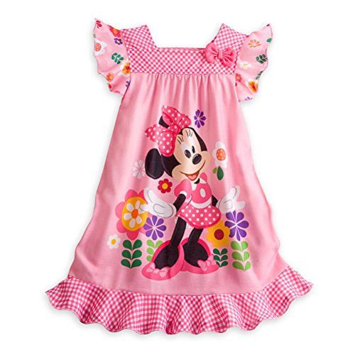 Store Minnie Mouse Little Girl Short Sleeve Nightgown