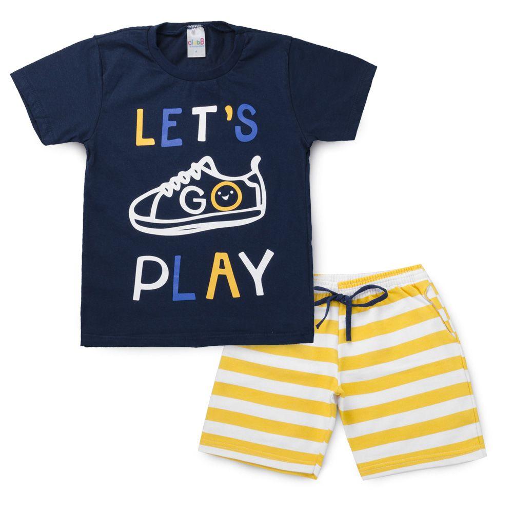 Conjunto Infantil Lets Play Marinho - Club B Conjunto para Meninos Lets  play 97837c1d85d97