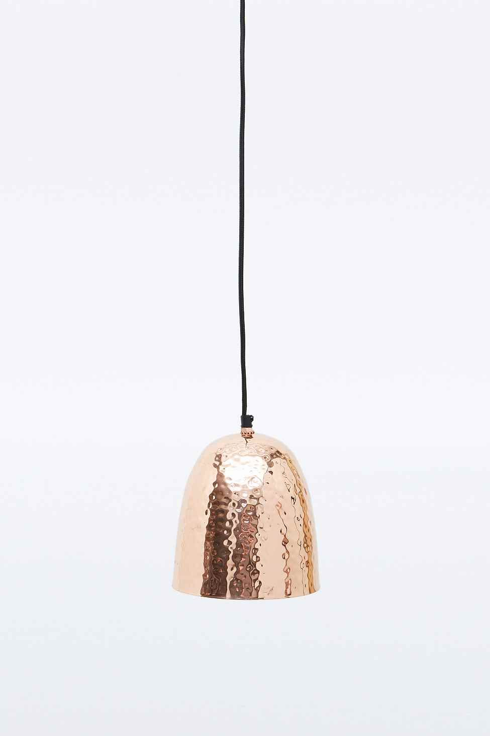 Hammered Copper Pendant Lamp Pendant Lamp Home Decor Copper Copper Interior