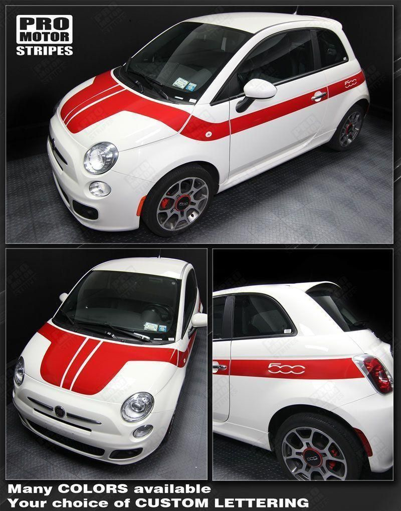Fiat 500 2007 2015 Hood To Side Stripes Fiat 500 Fiat Stripes [ 1019 x 800 Pixel ]