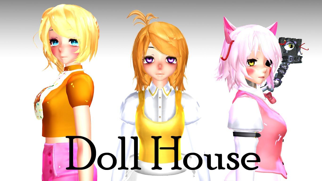 Toy chica x fem mangle preview undertale plans by red -  Mmd X Fnaf Doll House Chica Mangle Toy Chica