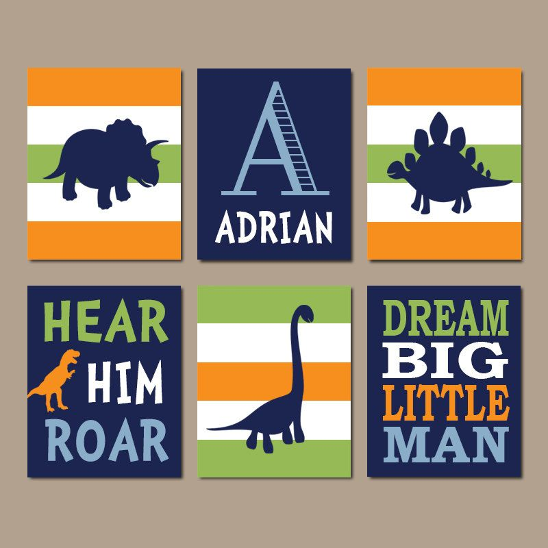 DINOSAUR Wall Art Dinosaur Decor Baby Boy Nursery Wall Art Dino Theme Big Boy Bedroom Dream Big Little Man Roar Set of 6 Prints Or Canvas is part of Baby Boys bedroom - chooseany6sixprintsmixmatchdesign  Wall Art, Nursery Wall Art, Canvas, Canvas Wall Art, Nursery Prints, Nursery Canvas, Kids Room Decor, Children Room Decor, Playroom Wall Art, Baby Nursery Prints, Baby Nursery Decor, Kids Prints, Baby Girl, Baby Boy, Home Decor, Custom Artwork, Typography, Quote Prints, Office Wall Art, Kids Art, Kids Wall Art, Personalized Baby Gifts, Custom Home Decor, Kitchen Wall Art, Kitchen Canvas, Posters, Bathroom Decor, Bathroom Wall Art, Bathroom Canvas, Bedroom Decor, Bedroom Wall Art, Bedroom Canvas