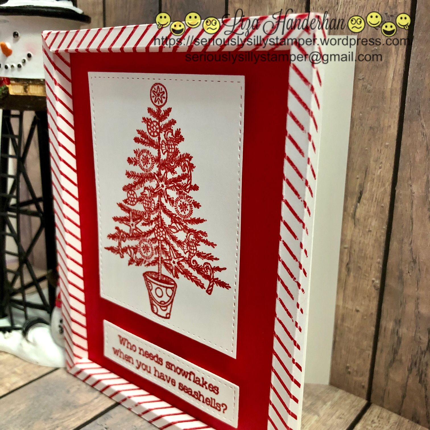 Beachy Little Christmas Frame Card | Beachy Little Christmas SU ...