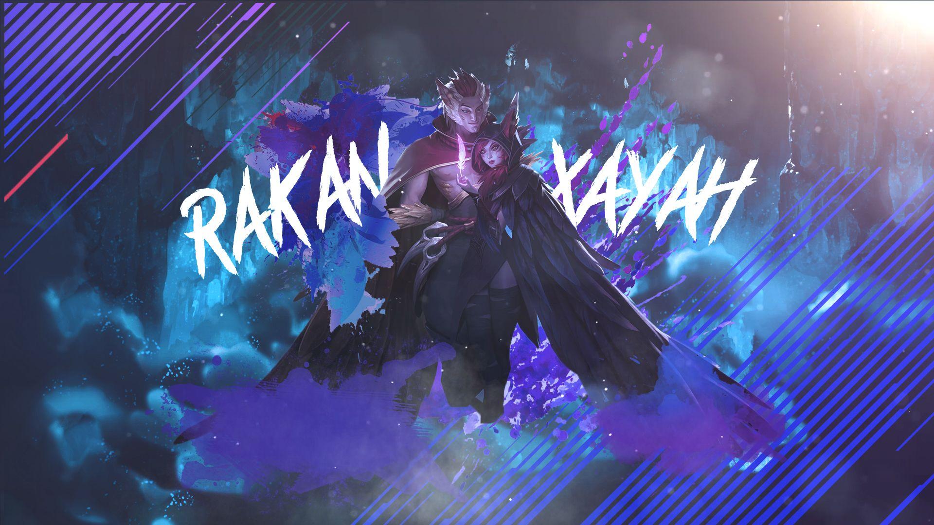 Wallpaper Rakan E Xayah By Vin1edits Xayah And Rakan League Of Legends Lol