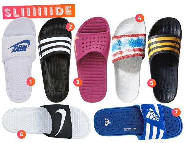 e5f0760a86 1. Chinelo Benassi branco e azul – Nike – R 99