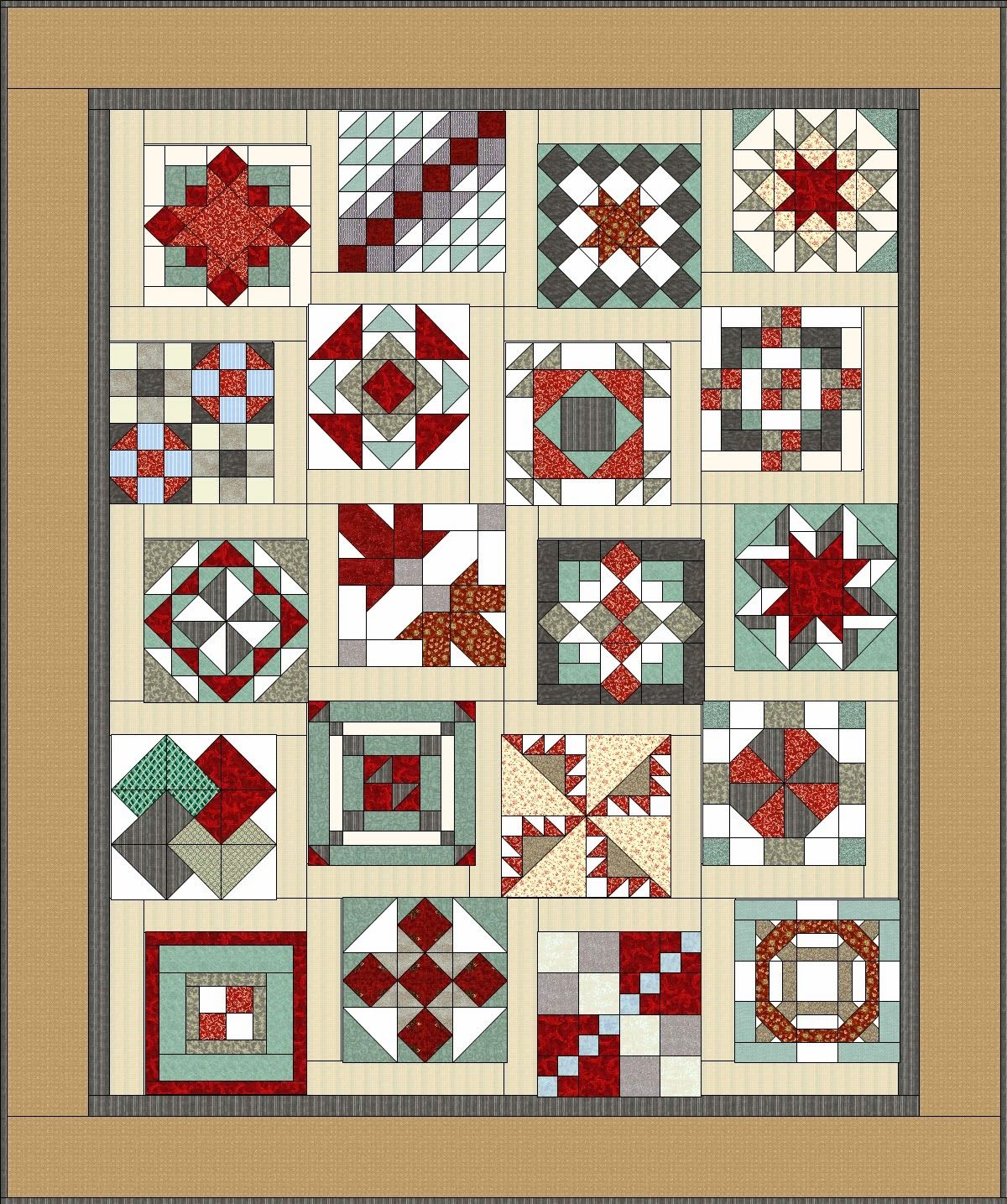 Periwinkle Quilting And Beyond Settings Two Side Sashing Sampler Quilts Barn Quilt Patterns Quilt Block Patterns Free