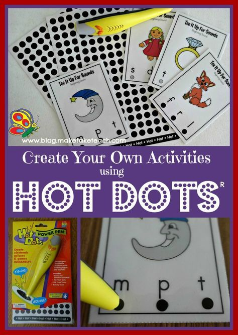 Create your own activities with the Hot Dots pen. The self-checking feature makes it ideal for centers.