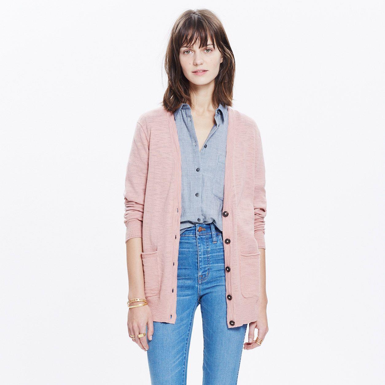 Graduate Cardigan Sweater : sweaters | Madewell color: rosewood ...