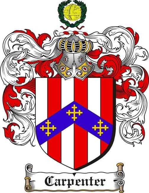 Carpenter Family Crest Carpenter Coat Of Arms Gifts Available At