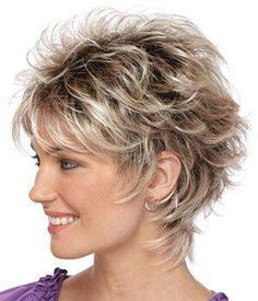 Best Hairstyle For Square Face Over 50 | Shaggy haircuts, Short ...