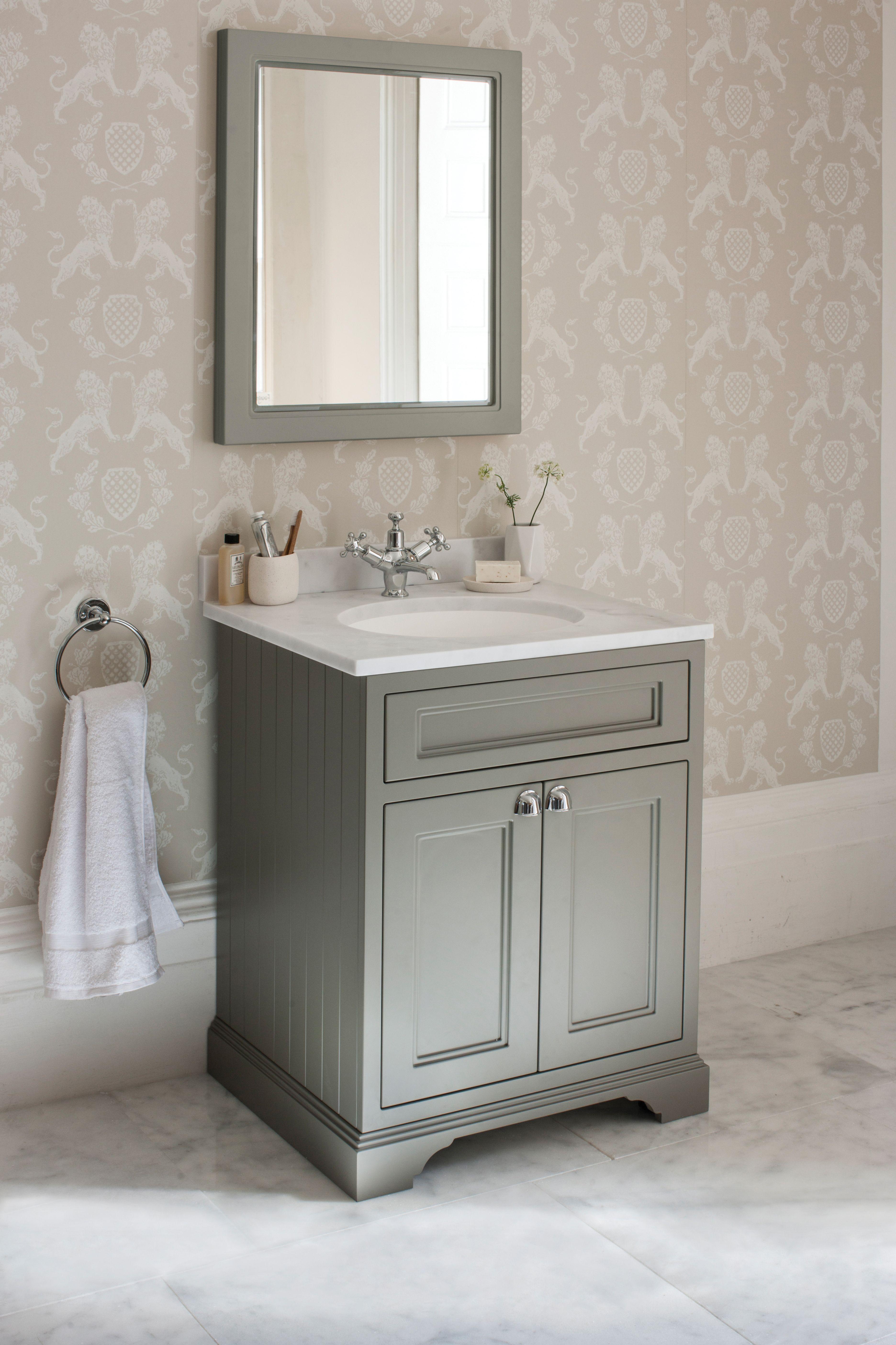 Burlington Bathrooms Freestanding 65 Vanity Unit With Doors Dark