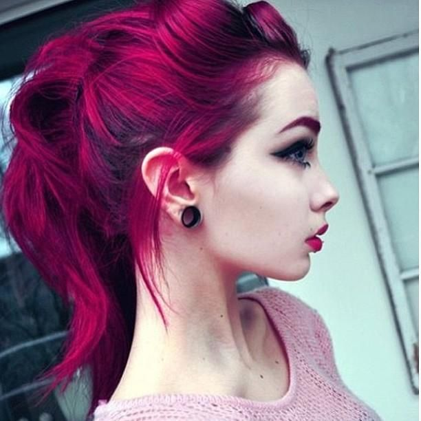 Purple And Fuchsia Hair Color Purple Fuchsia Color Your