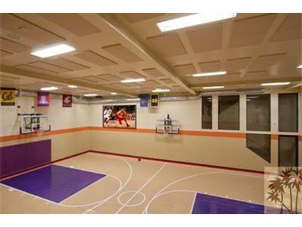 Another beautiful indoor basketball court exciting for Cost to build a racquetball court