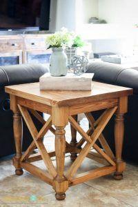 DIY X Panel Side Table