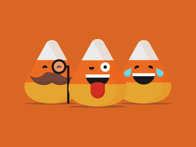 Candy Corn Emojis Halloween Vector Halloween Emoji Web Design Icon