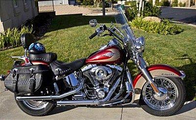 2009 Harley Davidson Flstc Heritage Softail Classic Red Gold Palmdale California 346171 Harley Harley Davidson Softail